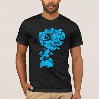 Blue Rose Swirls T-Shirt