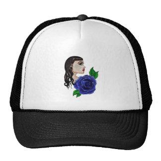 blue rose tattoo trucker hat