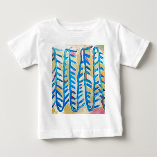 Blue Rose Thorns (abstract expressionism) Baby T-Shirt