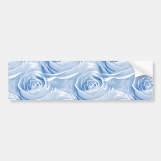 Blue Rose Wallpaper Pattern Bumper Sticker