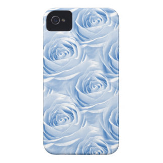 Blue Rose Wallpaper Pattern iPhone 4 Cover