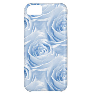 Blue Rose Wallpaper Pattern iPhone 5C Cover