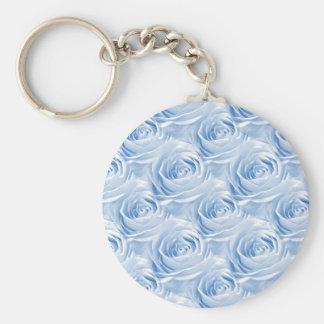 Blue Rose Wallpaper Pattern Keychain