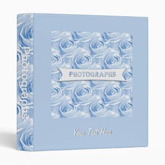 Blue Rose Wallpaper Pattern Photo Album Binder