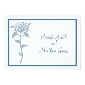 Blue Rose Wedding Invitation
