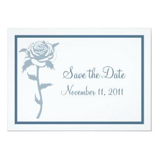 Blue Rose Wedding Save the Date Notice Invite