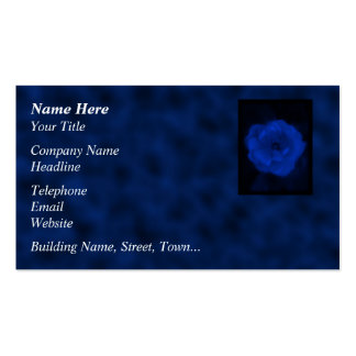 Blue Rose. With Black and Deep Blue. Business Card Templates