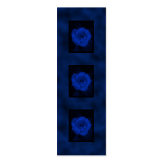 Blue Rose. With Black and Deep Blue. Business Cards