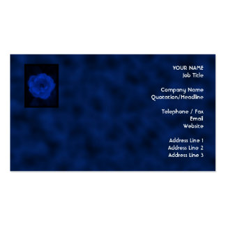 Blue Rose. With Black and Deep Blue. Business Card Template