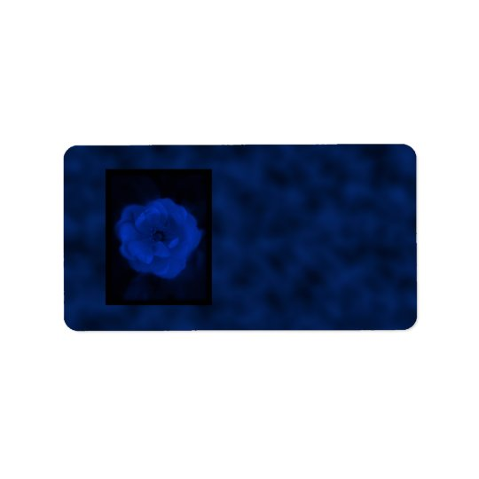Blue Rose. With Black and Deep Blue. Label