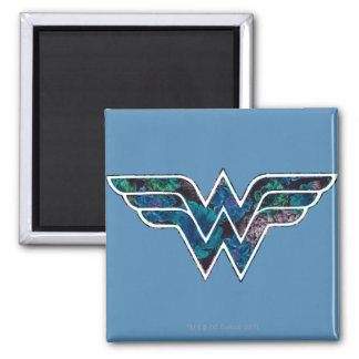 Blue Rose WW 2 Inch Square Magnet