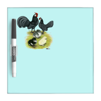 Blue Rosecomb Family Dry Erase Whiteboard