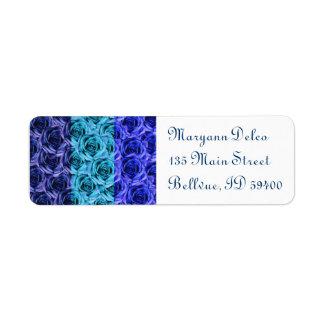 Blue Roses Address Label