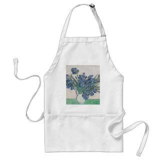 Blue roses adult apron