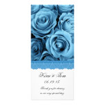 BLUE ROSES and LACE Wedding Program Announcement Personalized Rack Card