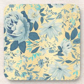 Blue Roses Beverage Coaster