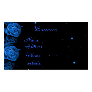 Blue Roses Business Card Template
