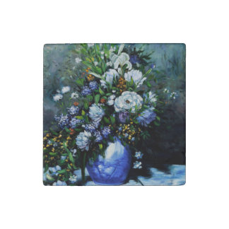 BLUE ROSES BY RENOIR STONE MAGNET