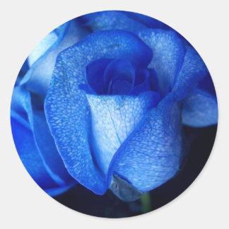 BLUE ROSES CLASSIC ROUND STICKER