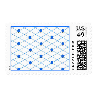 Blue Roses Criss Cross Quilt Pattern Stamps