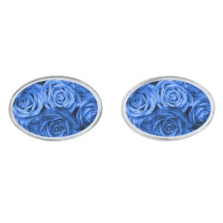 Blue Roses Cufflinks