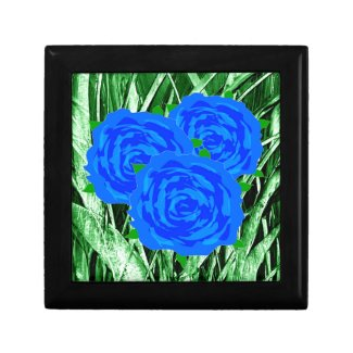 Blue Roses Design on Gift Boxes