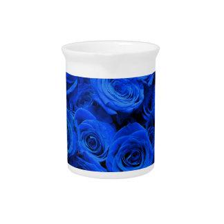 Blue Roses Drink Pitcher