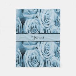 Blue Roses Fleece Blanket