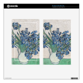 Blue roses kindle fire decal