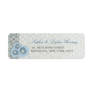 Blue Roses & Lace 2 Custom Label Return Address Labels