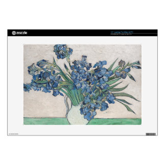 Blue roses laptop decal