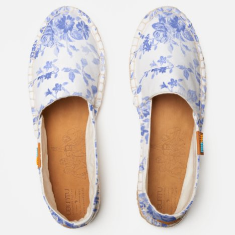 Blue Roses Light & Airy Afridrilles--Comfort Shoes