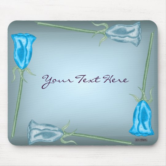 Blue Roses Mousemat Mouse Pad