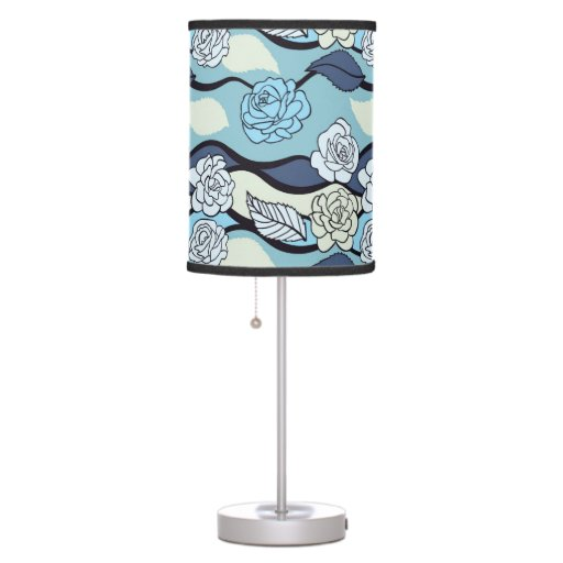 Blue Roses Pattern - Lamp