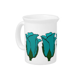Blue Roses Pitcher