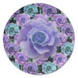 Blue Roses Plate