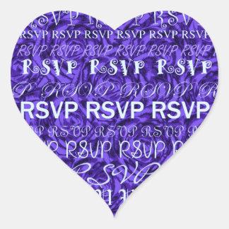 Blue Roses RSVP Sticker