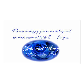 Blue Roses SEATING CARD3-customize Business Card