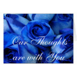 Blue Roses Sympathy-customize Greeting Cards