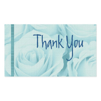 BLUE Roses Thank You Wedding Card Business Card