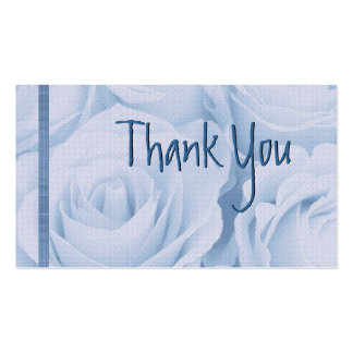 BLUE Roses Thank You Wedding Card Business Cards