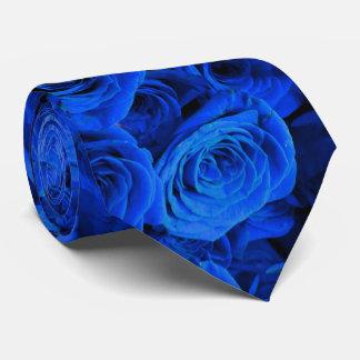 Blue Roses Tie
