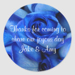 Blue Roses TY Sticker-customize Classic Round Sticker