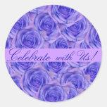 Blue Roses Wedding Sticker