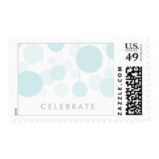 Blue Rosettes Celebrate Postage