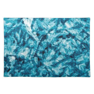 blue rough texture cloth placemat