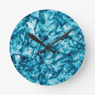blue rough texture round clock