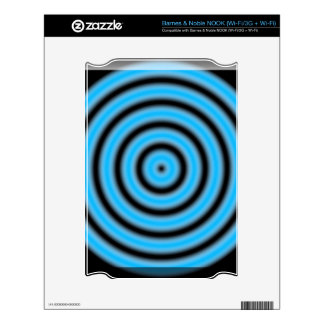 Blue Round Image Skin For The NOOK