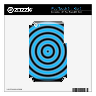Blue Round Image iPod Touch 4G Skins