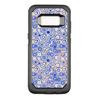 Blue Round Shapes on Pink OtterBox Commuter Samsung Galaxy S8 Case